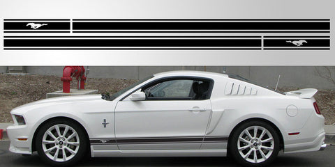 Mustang GT Triple stripe vinyl decal graphic logo