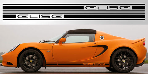 Lotus Elise Side Triple Stripe Vinyl Decal Graphic