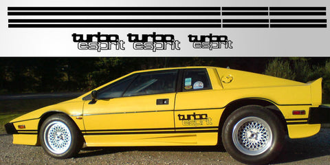 Lotus Esprit Turbo Rocker Stripes and Logo package