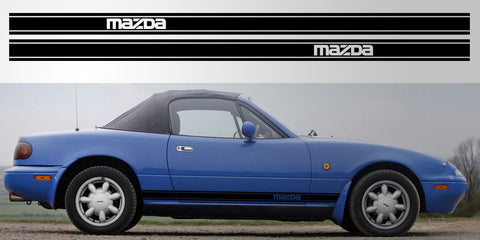 Mazda Miata Logo triple stripe vinyl decal graphic