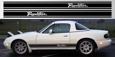 MX5 Miata side stripe roadster vinyl rocker decal graphic