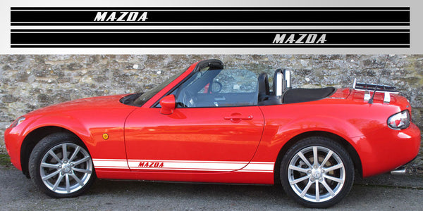 Miata Mx 5 Triple Stripe Decal Graphic Stripe Garage