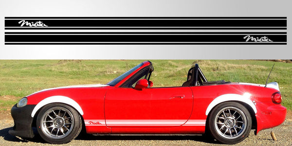 Mazda Miata Mx 5 Roadster Triple Stripe Decal Stripe Garage