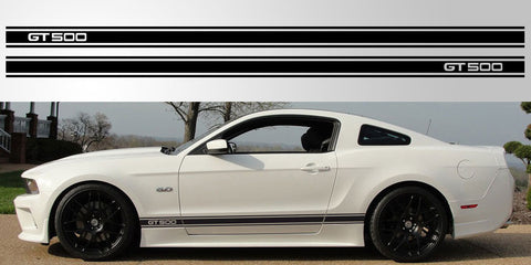 Mustang GT 500 three stripe vinyl decal
