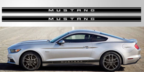 Ford Mustang lettered vinyl decal graphic sticker