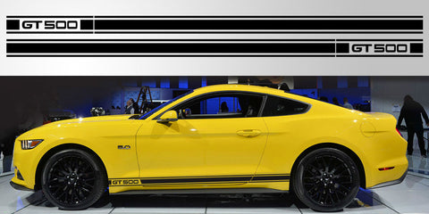 Mustang GT 500 Retro vinyl decal graphic