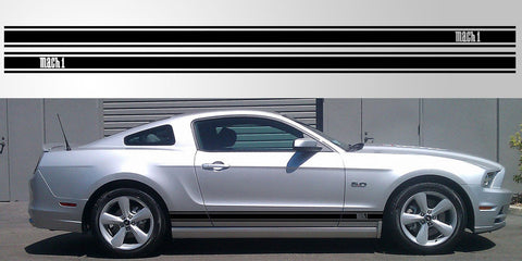 Mustang Mach 1 triple stripe vinyl graphic decal
