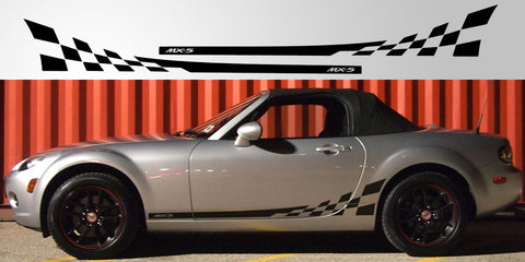 MX-5 Miata checkered side graphic flag stripe