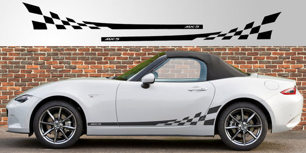 Mazda Miata Mx 5 Nd Checkered Stripe Decal Stripe Garage