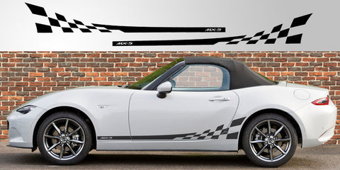 Miata MX-5 ND Generation 4 checkered decal graphic