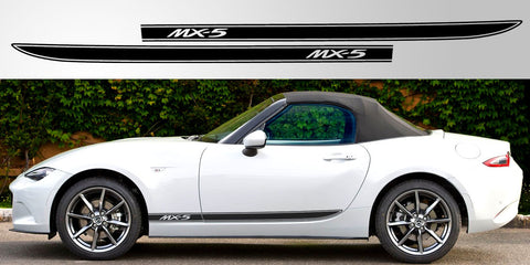 MX5 Roadster ND side decal vinyl graphic triple stripe