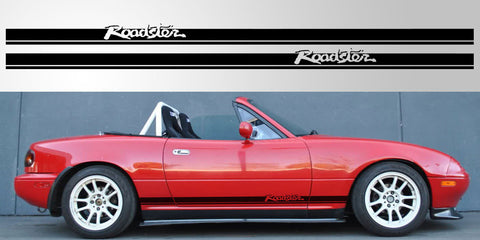 MX5 Mazda Miata Double Stripe Roadster Script Vinyl Decal