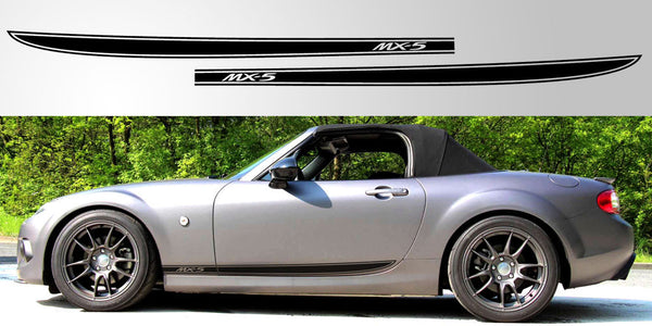 Mazda Miata Mx 5 Nc Door Stripe Decal Graphic Stripe Garage