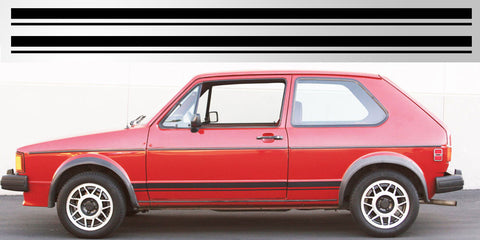 VW Volkswagen MK1 GTI Rabbit Gold rocker vinyl side decal graphics