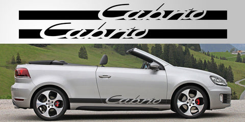 VW Volkswagen Cabrio Vinyl decal graphic stripe