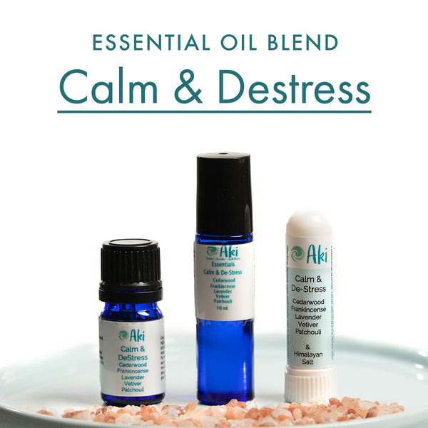 Calm & Destress - cedarwood, frankincense, lavender, vetiver, patchouli