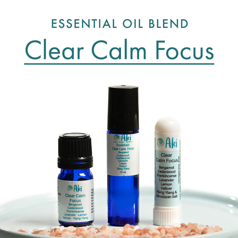 clear calm focus - bergamont, cedarwood, lavender, vetiver, patchouli