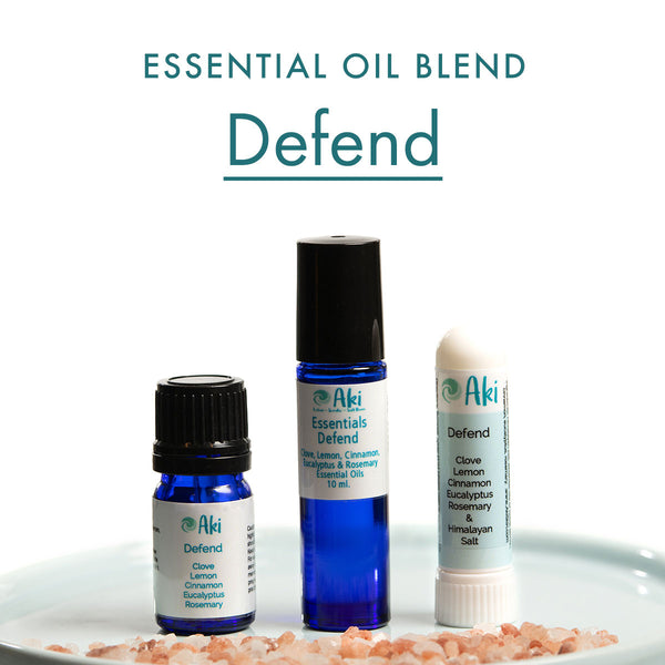 Defend - clove, lemon, cinnamon bark, eucalyptus, rosemary