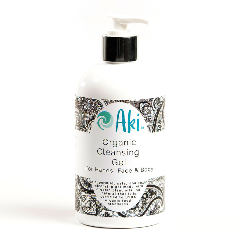 organic cleansing gel for hands, face, and body
