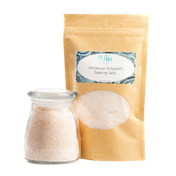 himalayan and epsom soaking salts