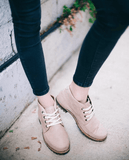 Leather ankle boots-Colorines Cream by Ethical & Sustainable Fashion Brand Mamahuhu