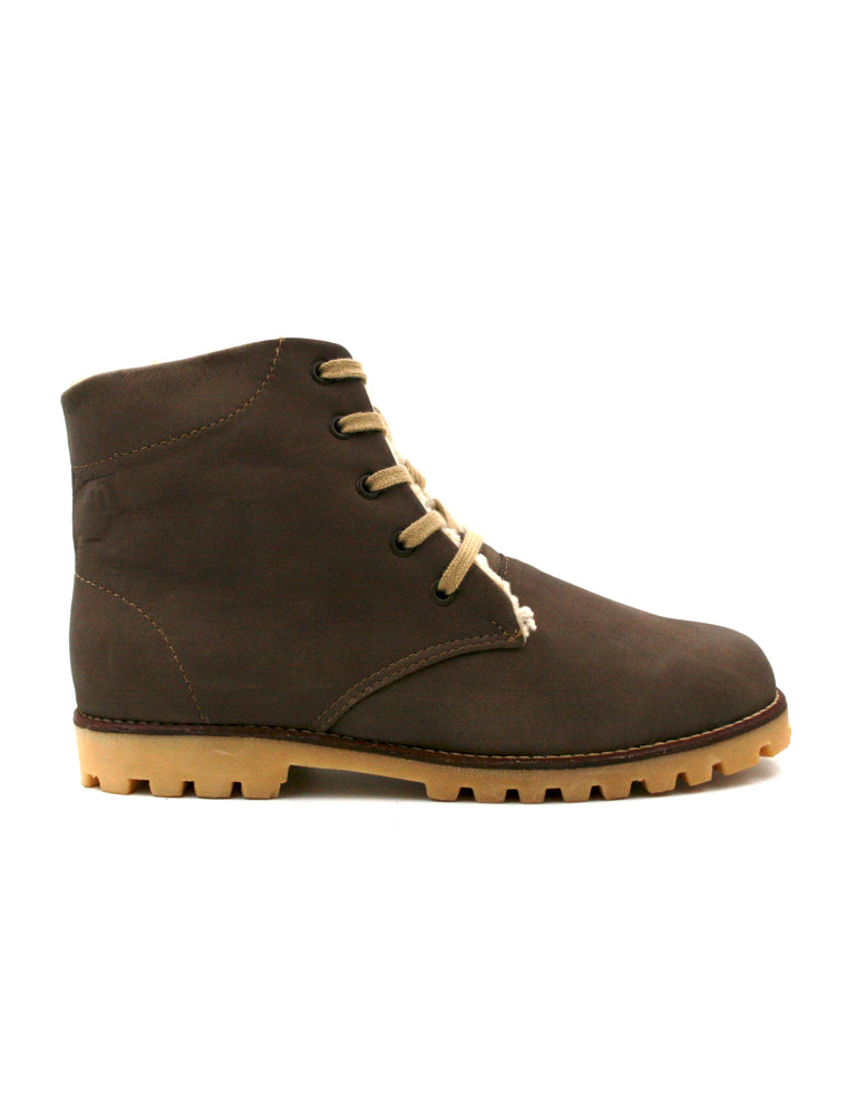 Leather boots-Nevaditas Dark Cinnamon Winter by Ethical & Sustainable Fashion Brand Mamahuhu