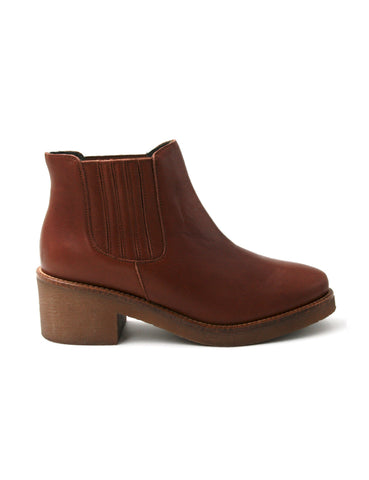 Leather ankle boots-Ankle Boots Cognac by Ethical & Sustainable Fashion Brand Mamahuhu