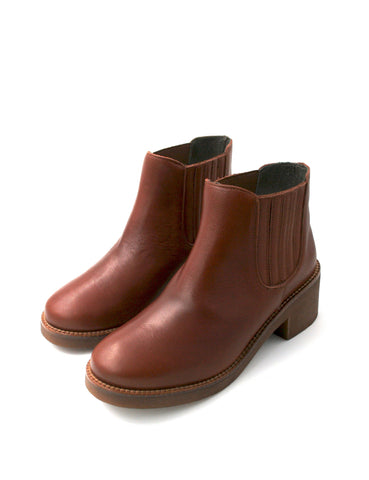 Deals-Ankle Boots Cognac by Ethical & Sustainable Fashion Brand Mamahuhu