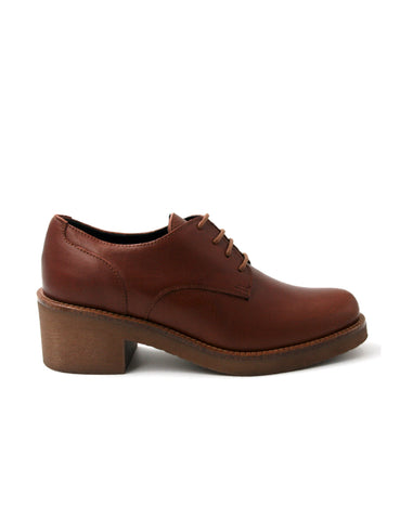 Deals-Heel Oxford Cognac by Ethical & Sustainable Fashion Brand Mamahuhu
