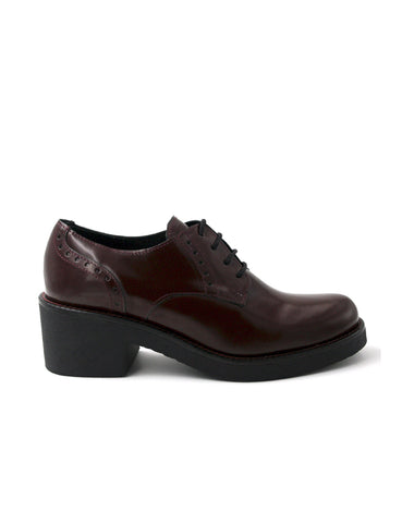 leather oxford-Oxford Riviera Rojo Vino by Ethical & Sustainable Fashion Brand Mamahuhu