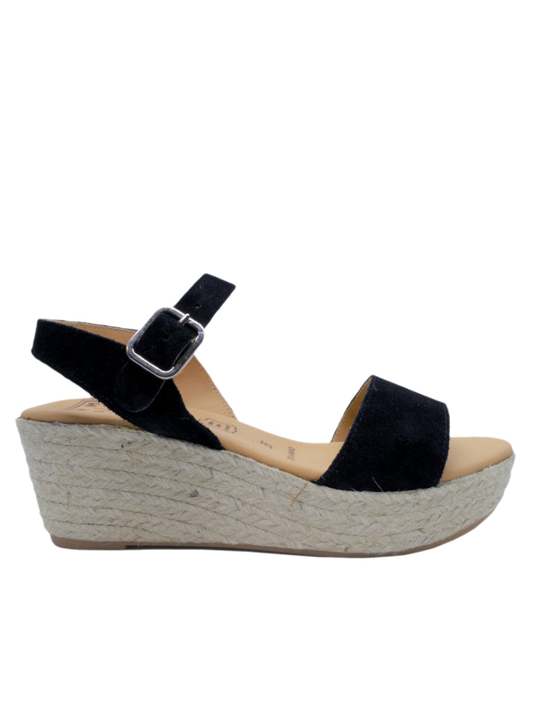Leather Sandal-Black Leather Sandals by Ethical & Sustainable Fashion Brand Mamahuhu