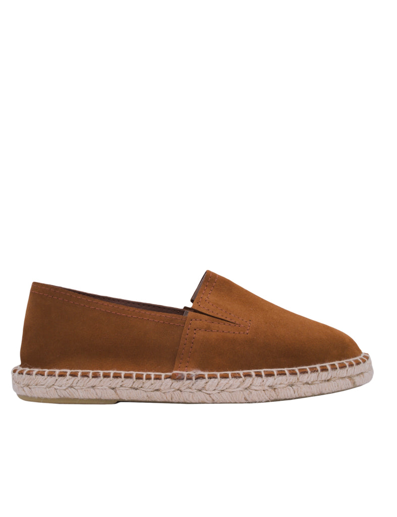 Espadrilles Men-Espadrilles Brown Leather Slip-ons by Ethical & Sustainable Fashion Brand Mamahuhu