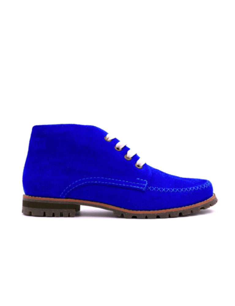 Leather ankle boots-Colorines Sapphire by Ethical & Sustainable Fashion Brand Mamahuhu