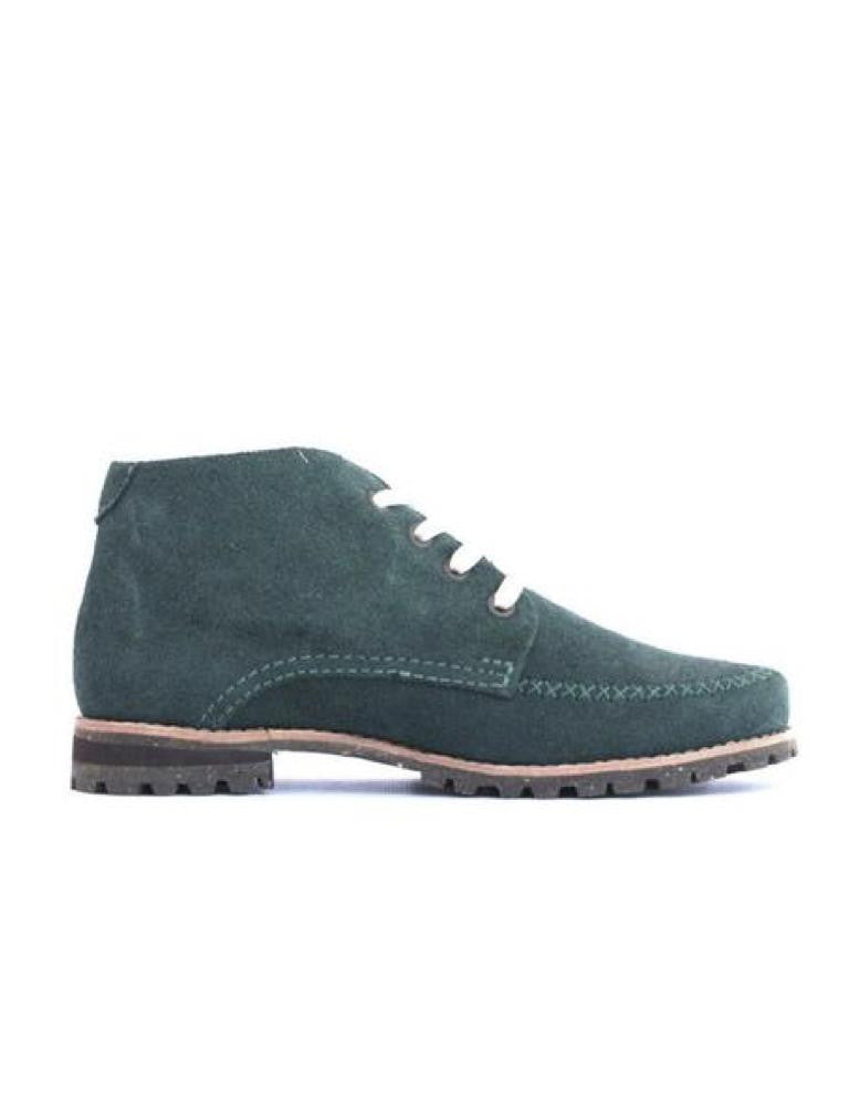 Leather ankle boots-Colorines Emerald by Ethical & Sustainable Fashion Brand Mamahuhu