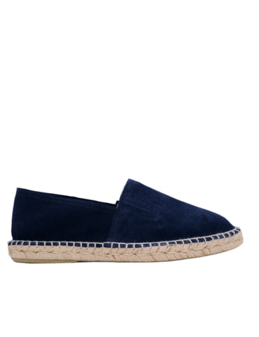 Espadrilles Men-Espadrilles Navy Leather Slip-ons by Ethical & Sustainable Fashion Brand Mamahuhu