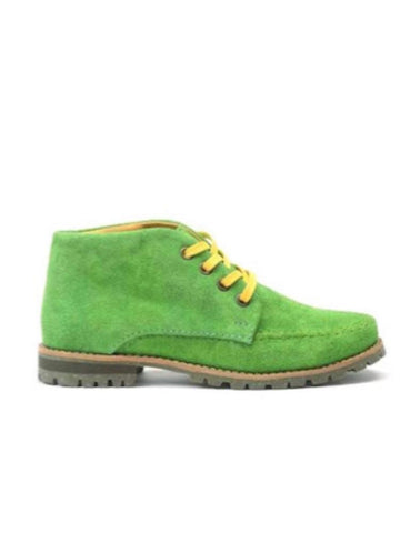 Leather ankle boots-Colorines Irish Clover by Ethical & Sustainable Fashion Brand Mamahuhu