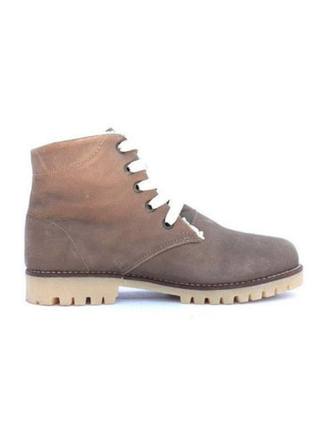 Leather boots-Nevaditas Chocolate Winter by Ethical & Sustainable Fashion Brand Mamahuhu