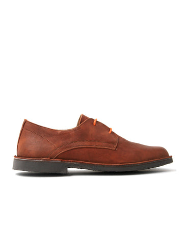 leather moccasin-Oxford Cognac Smooth by Ethical & Sustainable Fashion Brand Mamahuhu