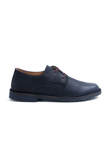 leather moccasin-Oxford Dark Navy Smooth by Ethical & Sustainable Fashion Brand Mamahuhu