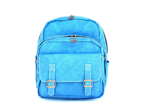 Faux leather bag-Traveller Backpack Sapphire by Ethical & Sustainable Fashion Brand Mamahuhu