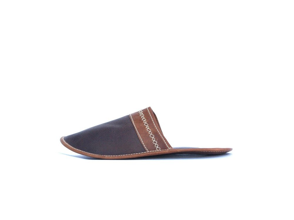 Leather Slipper-Slipper Chocolate by Ethical & Sustainable Fashion Brand Mamahuhu