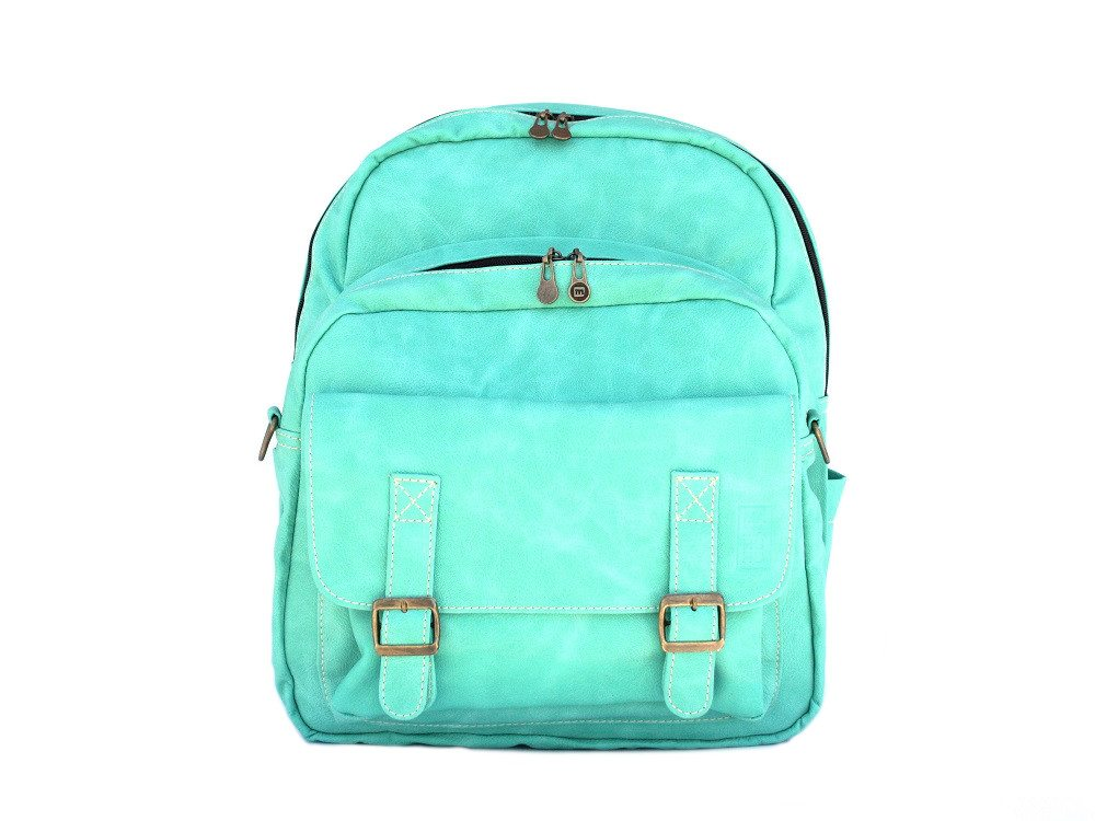 Faux leather bag-Traveller Backpack Mint by Ethical & Sustainable Fashion Brand Mamahuhu
