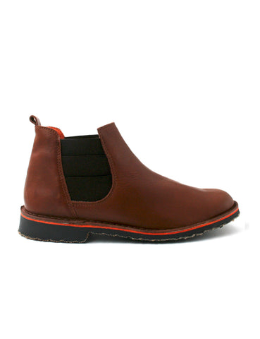 Leather ankle boots-Chelsea Boots Cognac by Ethical & Sustainable Fashion Brand Mamahuhu