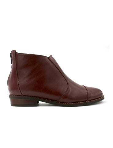 Leather ankle boots-Ankle Boots Wine by Ethical & Sustainable Fashion Brand Mamahuhu