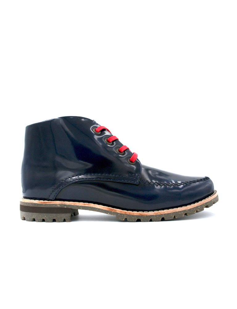 Leather ankle boots-Riviera Colorines Sapphire by Ethical & Sustainable Fashion Brand Mamahuhu