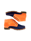Leather ankle boots-Colorines Salmon Blueberry by Ethical & Sustainable Fashion Brand Mamahuhu