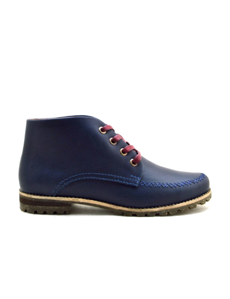 Leather ankle boots-Colorines Silky Blueberry by Ethical & Sustainable Fashion Brand Mamahuhu