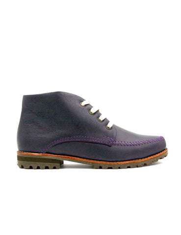 Leather ankle boots-Colorines Silky Violet by Ethical & Sustainable Fashion Brand Mamahuhu