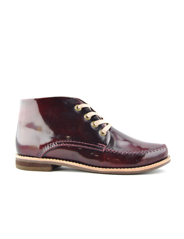 Leather ankle boots-Riviera Colorines Wine by Ethical & Sustainable Fashion Brand Mamahuhu