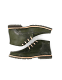 Leather ankle boots-Riviera Colorines Emerald by Ethical & Sustainable Fashion Brand Mamahuhu